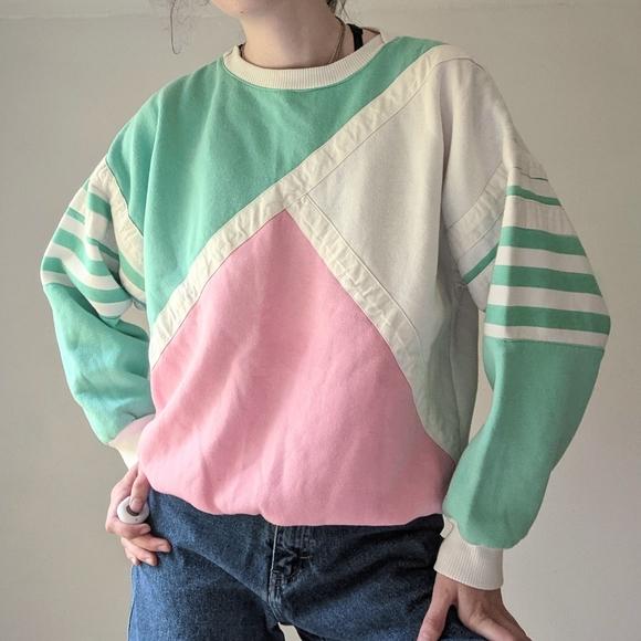 Vintage 80's 90's Colorblock Crewneck Sweatshirt